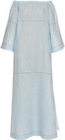 Lisa Marie Fernandez Off-the-shoulder linen dress