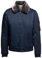 Tommy Hilfiger Hilfiger Denim Justice Faux Fur Collar Bomber Jacket, Sky Captain