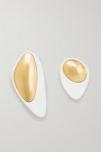 Monica Sordo Nausheen Shah X Nausheen Shah x Kiki Coated Gold-plated Earrings - White