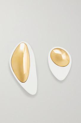 Monica Sordo Nausheen Shah x Kiki Coated Gold-plated Earrings - White