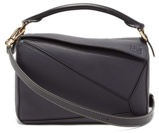 Loewe Puzzle Small Grained-leather Cross-body Bag - Dark Blue