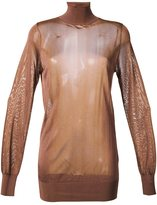 Theatre Products roll neck transparent top