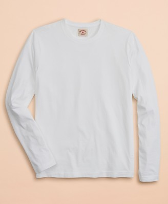 Brooks Brothers Garment-Dyed Cotton Jersey Long-Sleeve T-Shirt