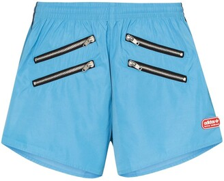 adidas x Lotta zip detail shorts