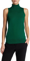 Trina Turk Ideal Sleeveless Turtleneck Wool Sweater