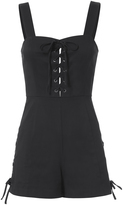 Exclusive for Intermix Jules Lace-Up Romper Black 6