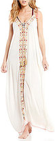 Gianni Bini Solid Embroidered Maxi Dress Cover-Up