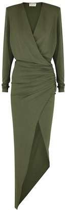 Alexandre Vauthier Army green stretch-jersey gown