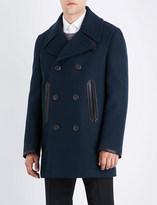 Salvatore Ferragamo Tonal wool and cashmere-blend coat