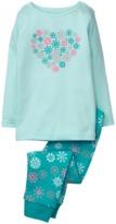 Crazy 8 Sparkle Snowflake 2-Piece Pajama Set