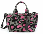 Marc by Marc Jacobs Leopard Embelished Canvas Small Tote Bag