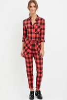 Forever 21 FOREVER 21+ Buffalo Plaid Jumpsuit