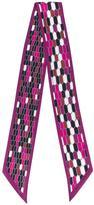 Bulgari geometric print skinny scarf