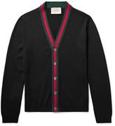 Gucci Stripe-Trimmed Wool Cardigan