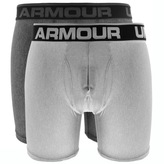 Under Armour Boxerjock 2 Pack Boxer Briefs Grey
