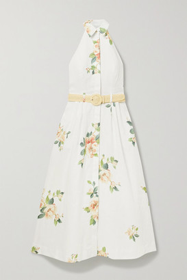 Zimmermann Kirra Linen Halterneck Midi Dress