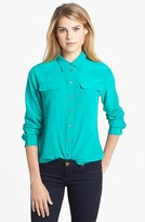 Vince Camuto Two by Silk Utility Blouse