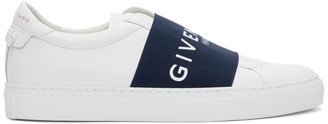 Givenchy White and Navy Elastic Urban Street Sneakers