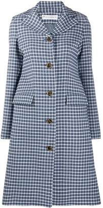 J.W.Anderson A-line grid-check coat