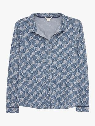 White Stuff Pom Shirt, Blue