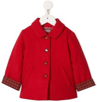 Familiar checked cuff coat