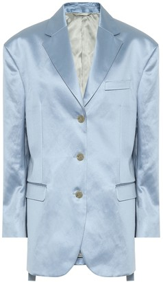 Acne Studios Cotton-blend satin blazer