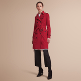 Burberry The Sandringham - Long Heritage Trench Coat , Size: 08, Red
