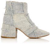 MM6 MAISON MARGIELA Women's Patchwork Denim Ankle Boots-BLUE