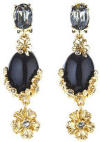 Oscar de la Renta Bouquet Crystal Statement Drop Earrings