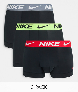 Nike 3-pack microfiber trunks in black