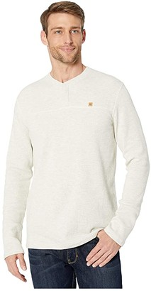 tentree Bowden Long Sleeve Henley (Elm White Heather) Men's Clothing