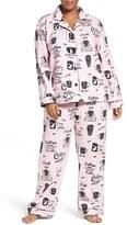 PJ Salvage Print Flannel Pajamas (Plus Size)