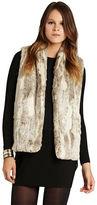 BCBGeneration Shawl Collar Faux Fur Vest