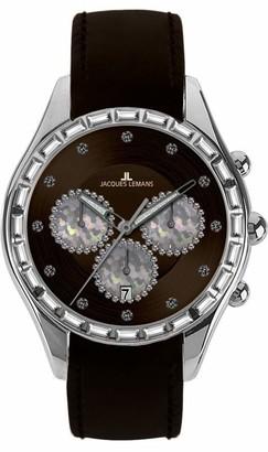 Jacques Lemans Capri Ladies Brown Leather Strap Watch