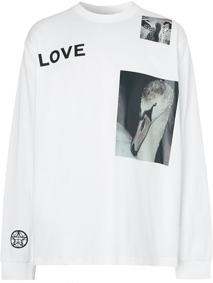 Burberry Montage print long-sleeve T-shirt