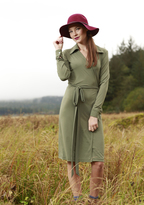Shabby Apple Mily ITY Short Wrap Dress Olive