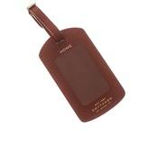 Smythson Panama leather luggage tag