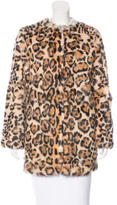 Adrienne Landau Leopard Print Fur Coat w/ Tags