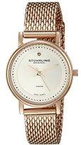 Stuhrling Original Women's 734LM.05 Ascot Casatorra Elite Analog Swiss Quartz Rose Gold-Tone Stainless Steel Watch