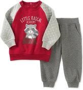 Kids Headquarters 2-Pc. Little Rascal Sweatshirt & Pants Set, Baby Boys (0-24 months)