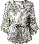 Etro floral print blouse - women - Silk/Metallic Fibre - M