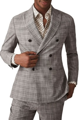 Reiss Ned Peak Collar Double Breasted Jacket