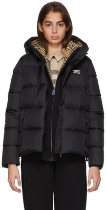 Burberry Black Monogram Puffer Down Leith Jacket