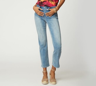 NYDJ Marilyn Straight Ankle Jean with Braided Belt Loops