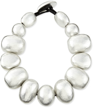 Viktoria Hayman Freeform Silver Foil Bauble Necklace