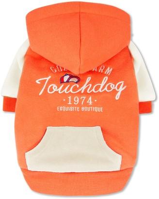 Touchdog 'Heritage' Soft-Cotton Fashion Dog Hoodie - Orange - Extra Large