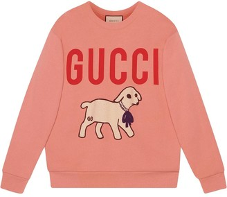 Gucci oversized lamb print sweatshirt
