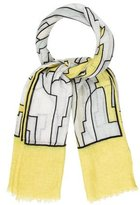 Emilio Pucci Abstract Linen Scarf