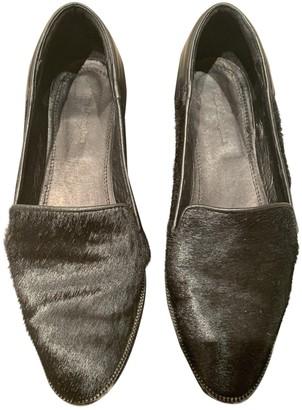 The Kooples Black Leather Flats