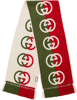 Gucci Scarf in Green & Red | FWRD